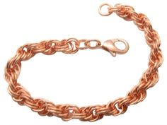 Women's Solid Copper 8 Inch Bracelet CB686G - 5/16 of an inch wide. Solid copper bracelet. Solid copper jump rings and solid copper lobster claw clasp. Top quality. Made in the USA.
