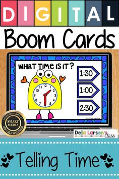 Boom Cards makes telling time easy and fun. New ideas for teaching time in first-grade. Make your math centers feel like a game with digital Boom cards Boom Cards are self-checking and can be used on iPads and Chromebooks. Kindergarten Math Activities, Kindergarten Classroom, Classroom Ideas, Elementary Math, Classroom Organization, Maths, Interactive Learning, Fun Learning, Math Centers