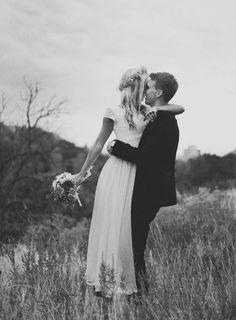 Cute shot for a tall bride.