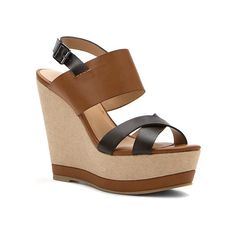 Report Nicole Wedge Sandals ($72) ❤ liked on Polyvore featuring shoes, sandals, burnish tan burnish, report sandals, wedges shoes, tan high heel sandals, strappy heeled sandals and tan wedge sandals