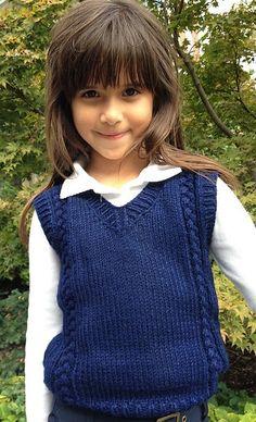 Free knitting pattern for 6 stitch plait children's vest