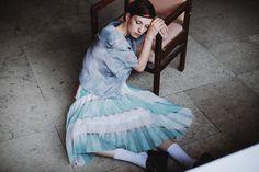 POKOJÍK / Theó pleated skirt, silk top Silk Top, Pleated Skirt, Tulle, Mood, School, Skirts, Fashion, Skirt Pleated, Pleated Skirts