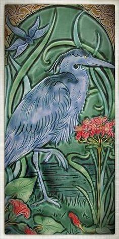 Verdant Tile - Large Art Tiles - Mary Philpott