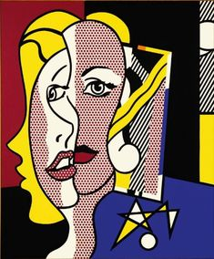 Roy Lichtenstein - Female Head, 1977.