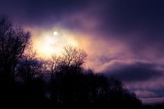 Mysterious Sun in Purple Sky  Fine Art Photo Entitled by CarlaDyck, on etsy.