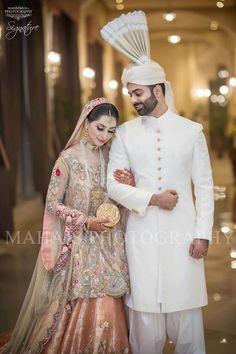 Pakistani Bridal Couture, Bridal Lehenga, Indian Bridal, Groom Outfit, Groom Dress, Wedding Wear, Wedding Bride, Wedding Couples, Beautiful Bridal Dresses
