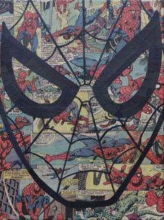 Spiderman Pop Art por ComicCollageArt en Etsy