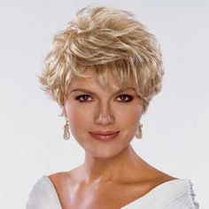 Short Blonde Haircuts for Women - Hair Styles Short Blonde Haircuts, Short Curly Hair, Short Hair Cuts, Curly Hair Styles, Popular Short Hairstyles, 2015 Hairstyles, Cool Hairstyles, Hair Styles 2014, Great Hair