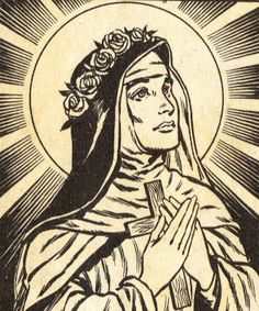 Santa rosa de lima St Rose Of Lima, Saint Dominic, Good Cigars, Hail Mary, Character Design, Black And White, Drawings, Faith, Inspiration