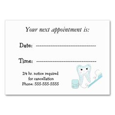 Simple Appointment Cards In White Double-Sided Standard Business ...