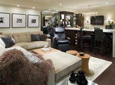 From media rooms to home offices to bars, get tips on transforming your basement.