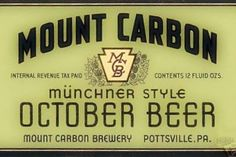 MOUNT CARBON BREWERY
