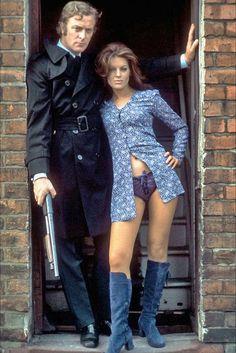 Michael Caine and Geraldine Moffatt in 'Get Carter', 1971.