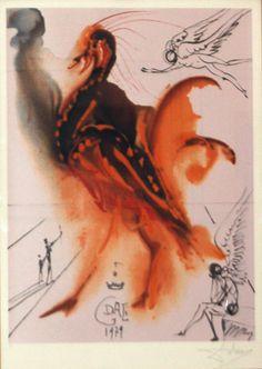 Salvador Dalì - El Gran Pavo Real - Litografia a colori