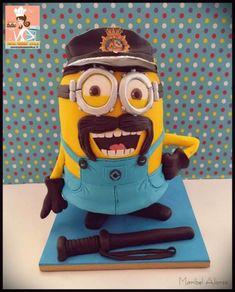 Police minion - Cake by MaribelAlonso