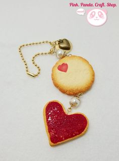 Polymer clay sugar cookie charms keychain by pinkpandacraftshop, $15.00