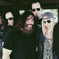 taylor-the-zombie:The Pretty Reckless backstage at Welcome to...