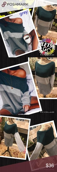 Off shoulder sweater Gray and real off shoulder sweater. Light weight knit. Long and slouchy My Brand Boutique. Brands that are similar to: urban outfitter, anthropologie, free people, brandy Melville, nasty gal, reformation, Zara, april spirit, rag & bone, Rebecca minkoff, for Love & Lemons, Cleobella, April, May, Free People, Janessa, Leone, Raquel Allegra, Simone Camille, Tigerlily, Spell &a the Gypsy Collective, Stone Cold Fox, The 2  Bandits, The Frye Company gypsi's Sweaters