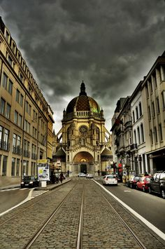 Brussels, Belgium, Belgique, Bruxelles, Bruselas, Bélgica Rue Royale - sainte Marie
