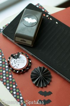 stampin up halloween rosette