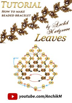Wath Free tutorial: https://www.youtube.com/watch?v=xIyxoodgs8g beaded leaf pattern leaves bracelet beadwork beading handmade pattern схема бисер бисероплетение браслет листик листики своими руками