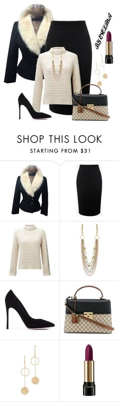 """""""EVE"""" by evelina-er ❤ liked on Polyvore featuring Alexander McQueen, Somerset by Alice Temperley, Gianvito Rossi, Gucci, Cloverpost and Lancôme"""