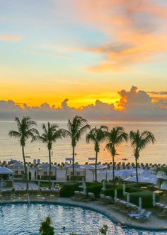 Sunset from The Ritz-Carlton Grand Cayman, one of the Caribbean's best luxury hotels.