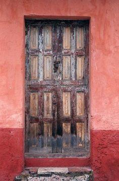 Puerta en San Cristóbal de las Casas, Chiapas, México