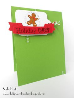 SRM Stickers Christmas Card Set by Shelly #christmas #card #twine #stickers #gingerbread