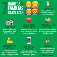 Biblioteca de Catholic-Link - Infografía: 7 hábitos de las familias católicas