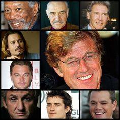 Morgan Freeman - Sean Connery - Harrison Ford - Johnny Depp - Robert Redford - Leonardo Di Caprio - Sean Penn - Orlando Blum - Mat Damon