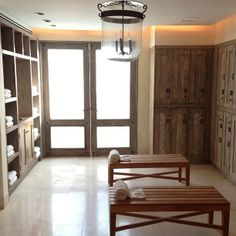 Love the lockers but maybe have 3-4 sizes for options.    St. Regis Punta Mita locker room
