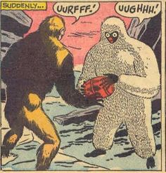 """Suddenly...""""Uurfff!....Ughhh!"""", OMG, I think they're dating!! ❤️ Funny Vintage Comic Book Art."""