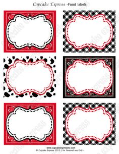 INSTANT DOWNLOAD diy  Cowboy  Birthday Party  PRINTABLE Food Labels  red black  horse boots Display cards
