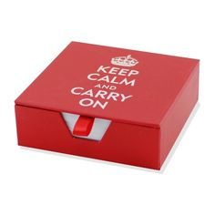 Keep Calm and Carry On Boxed Desk Notes. Appreciation gifts for employees #Thanksgiving