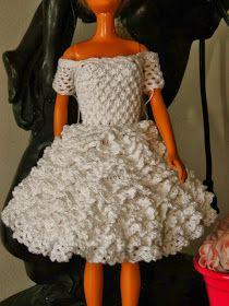 Passo a Passo em Português do Vestido de Noiva de Crochê Para Barbie