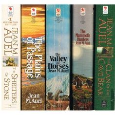 Earth's Children Series by Jean Auel.  my fave book series! 6th book is out now and called The Painted Caves