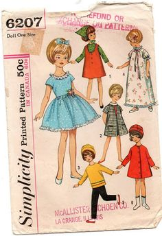 Even clothes for dolls in the style of the 60s. Album with patterns .. Discussion on LiveInternet - Russian Service Online diary 1 of 2
