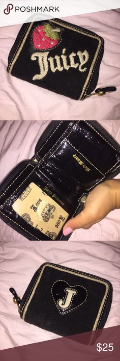 Juicy Couture Wallet Small juicy couture wallet - There is a space for cash, an ID, and coins! Great condition Juicy Couture Bags Wallets