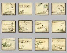Ogata Kenzan, Plates of the Twelve Lunar Months, early 18th century