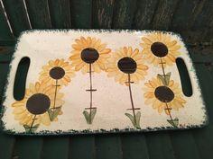Sunflower/Sunflower Decor/Sunflowers/Sunflower Wedding/Sunflower Dish/Sunflower Kitchen/Yellow/Molly Dallas/Spatterware/Yellow Kitchen Decor by MollyDallasCo on Etsy
