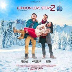 Cinta Segitiga Dimas Anggara, Michelle Ziudith dan Rizky Nazar dalam Film London Love Story 2