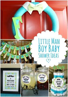 Little Man Boy Baby Shower Ideas www.spaceshipsandlaserbeams.com