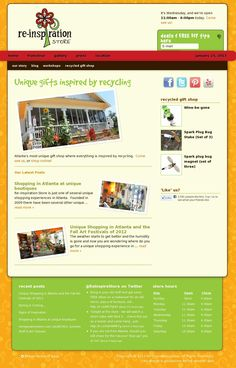 Gift Shop Website - Re-inspiration Store