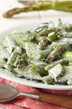 Cucumber-Dill Salad with Asparagus – Crisp cucumbers and asparagus get a distinctive flavor kick from a dash of dill weed in this unique salad recipe that takes just 15 minutes to prepare.
