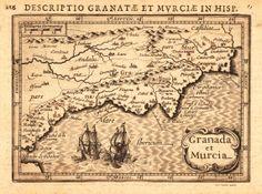 Un mapa antiguo de Granada y Murcia.  Kolfinna J.