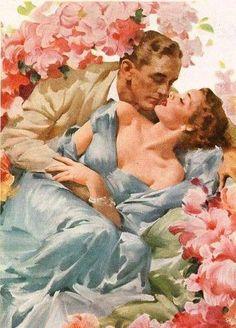 vintage advertisement illustration ~j Amor Romance, Romance Art, Vintage Romance, Vintage Love, Vintage Art, Art And Illustration, Illustrations, Retro Images, Vintage Images