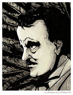 Edgar Allen Poe Seymore  8x10 Art Print by TheArtofJeffHulligan