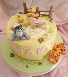 107 Best Winnie The Pooh Birthday Baby Shower Cakes Images Cakes