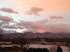 Sunrise on lake J. CIC ski trip 2013
